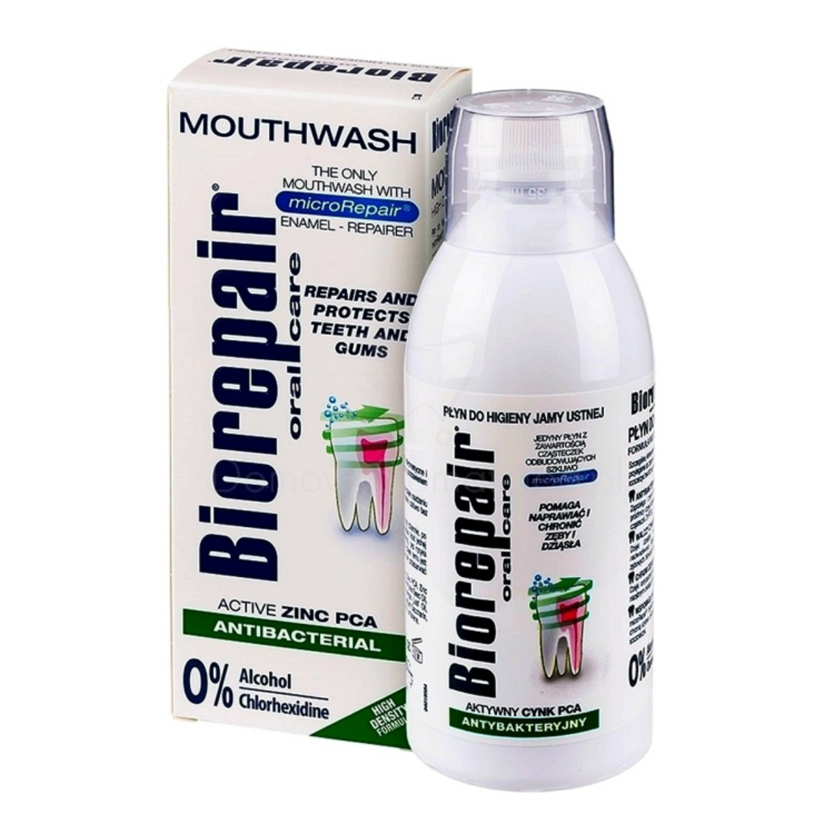 BioRepair Concentrated Mouthwash-Repairs Enamel 500ml mineralize enamel protection fill holes gradually microparticle repairs toothrevents plaque and tartar from forming - protect helping to prevent decay before it can start