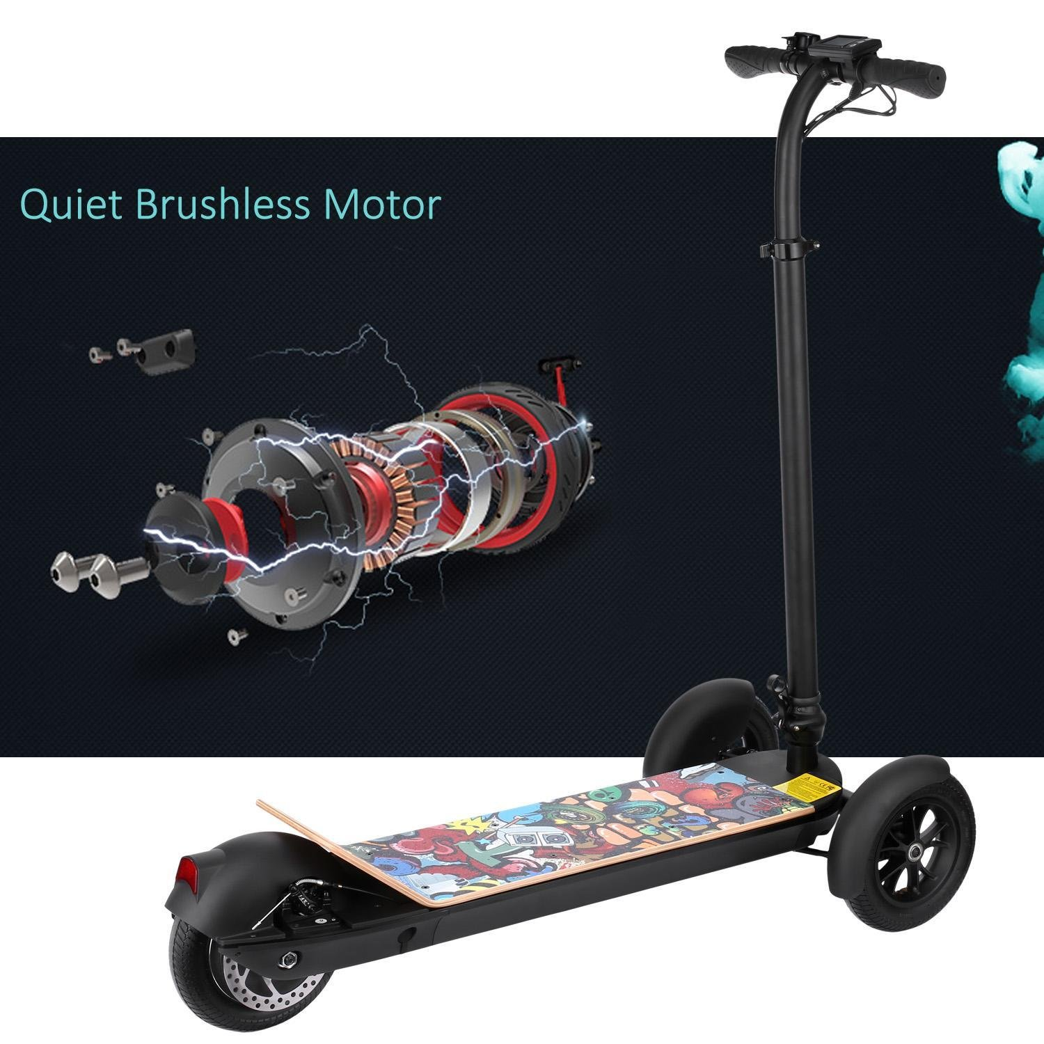 Oguine Folding Electric Scooter Folding Mobility Scooter Lightweight ...
