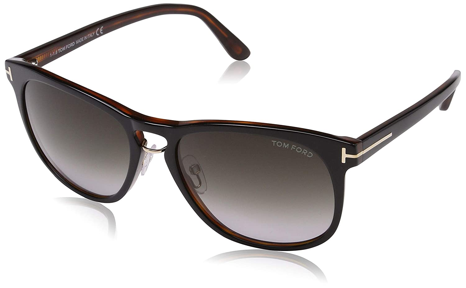 0f211fef5b2 Amazon.com  Tom Ford 346 01V Black Tortoise Franklin Square Sunglasses Lens  Category 2 Le  Tom Ford  Clothing