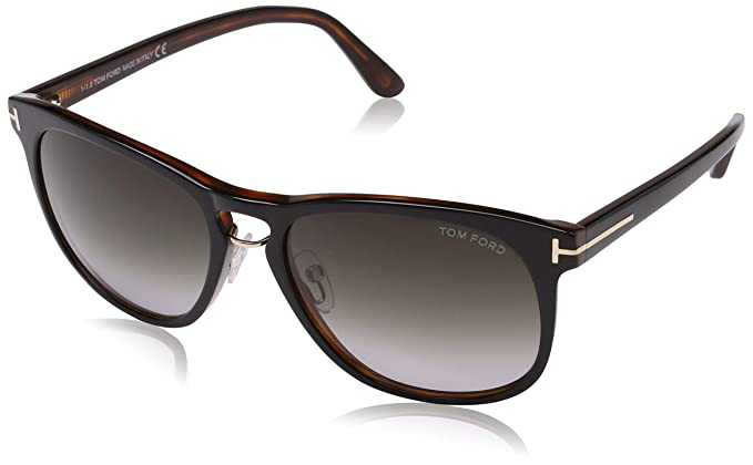 e9e89c1994f6 Amazon.com  Tom Ford 346 01V Black Tortoise Franklin Square Sunglasses Lens  Category 2 Le  Tom Ford  Clothing