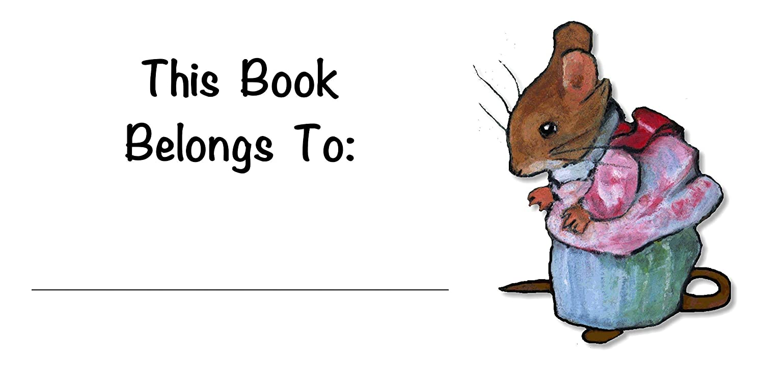 Bookplates For Kids, Your Name, This Book Belongs To: Mrs. Tittlemouse, ArtAfter Beatrix Potter