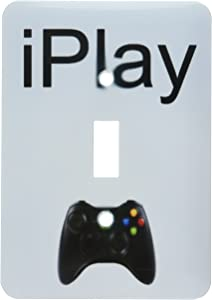 3dRose lsp_180064_1 Iplay, Black Lettering On White Background, Picture Of Game Controller Toggle switch, Multicolor