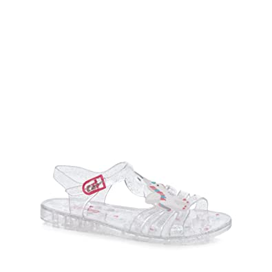 4dade8d3c7b bluezoo Kids Girls  Silver Unicorn Jelly Sandals 8 Younger  Amazon.co.uk   Shoes   Bags