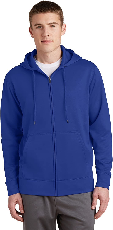 Sport Tek Full Zip Hooded Sweatshirt True Royal