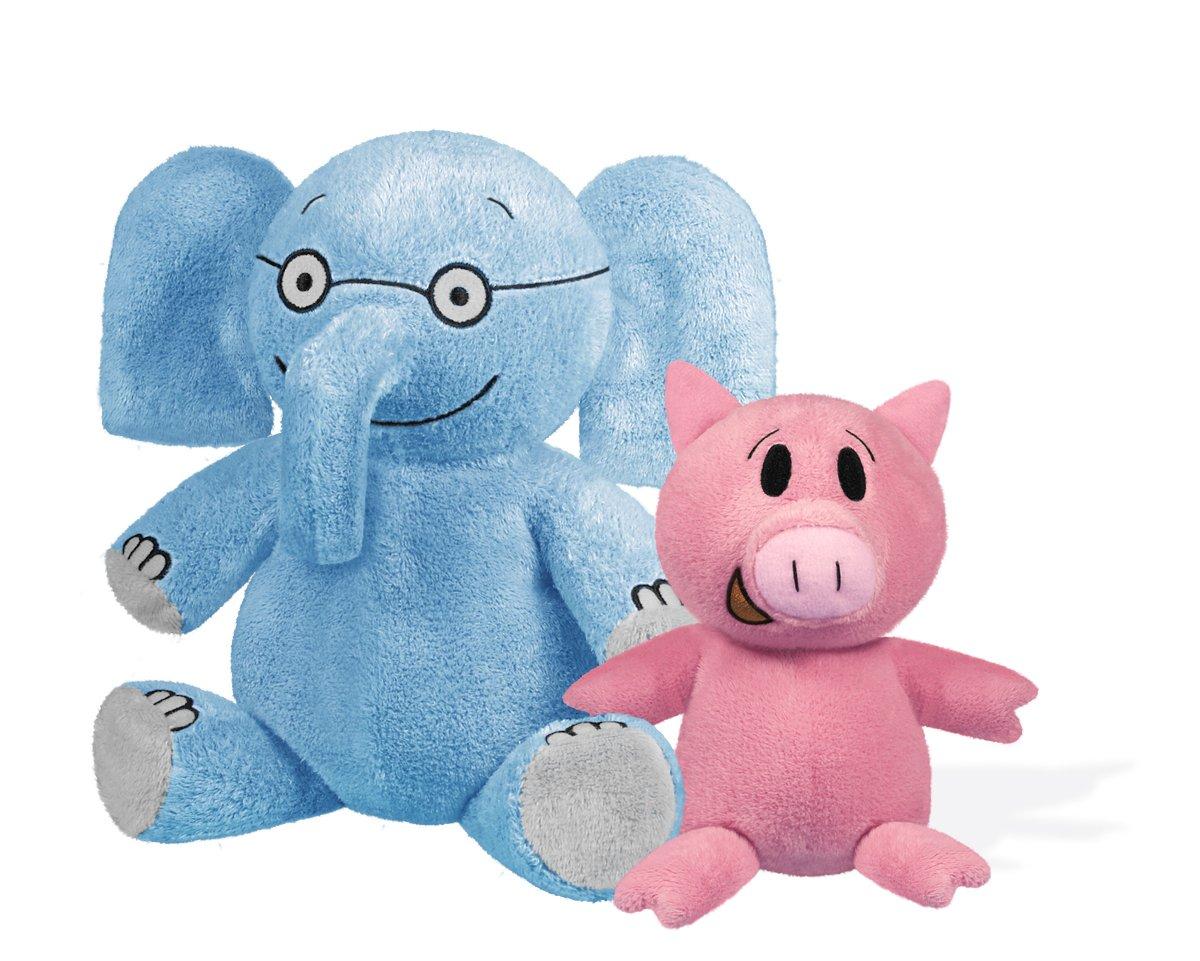 Elephant 7'' & Piggie 5'' Soft Toys by YOTTOY (Image #1)