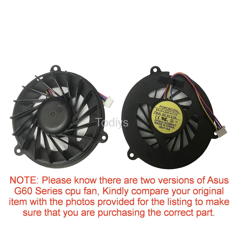 CPU Cooling Fan para Asus G60 G60J G60JX G60V G60VX M50 M...