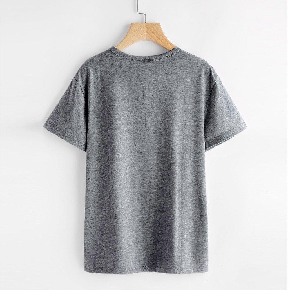 Cebbay Liquidación Camiseta con Estampado de Gato O-Cuello Moda ...