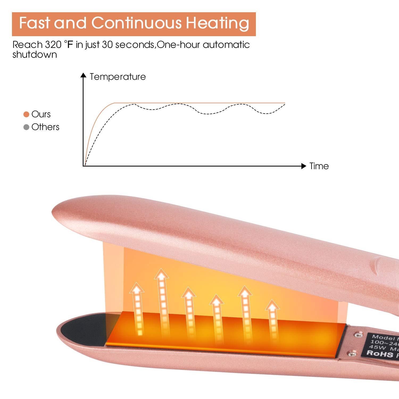Flat Iron for Hair, Professional Hair Straightener Flat Iron for Hair Styling