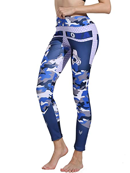 9c8d5e7477f988 Helisopus Women's Printed Fit Compression Yoga Pants Power Stretch Active  Workout Leggings Tights at Amazon Women's Clothing store: