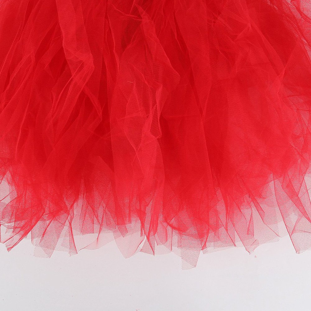 SiQing Kids Baby Girls Solid Color Pleated Tutu Ballet Skirts Fancy Party Skirt Dancewear