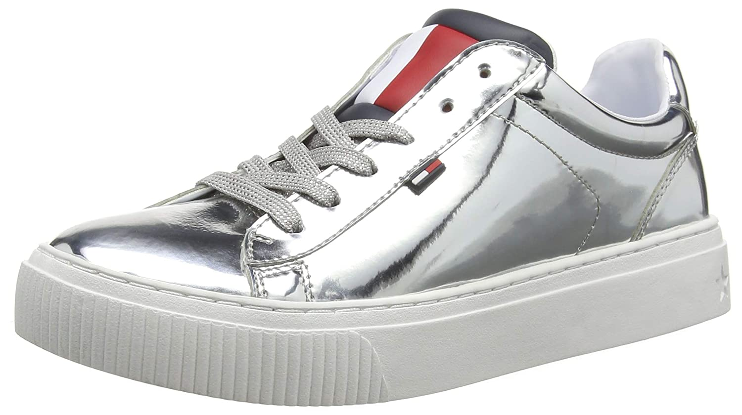 Hilfiger Denim Damen Big Flag Mirror Mirror Mirror Star Turnschuhe 189064