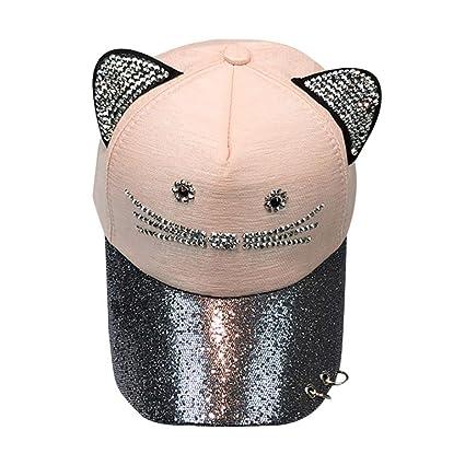 Sombrero para El Sol Rawdah Gorra De BéIsbol Linda del Anillo De La  Lentejuela del OíDo ccdee21e508