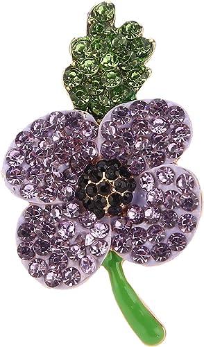 Broche Flor Grande Amapola Roja Diamante Cristal Esmalte Recuerdo Pin Venta De Regalo