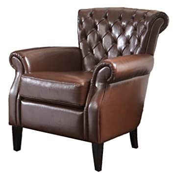 leather swivel club chair ikea recliner best selling bonded brown vintage french chairs