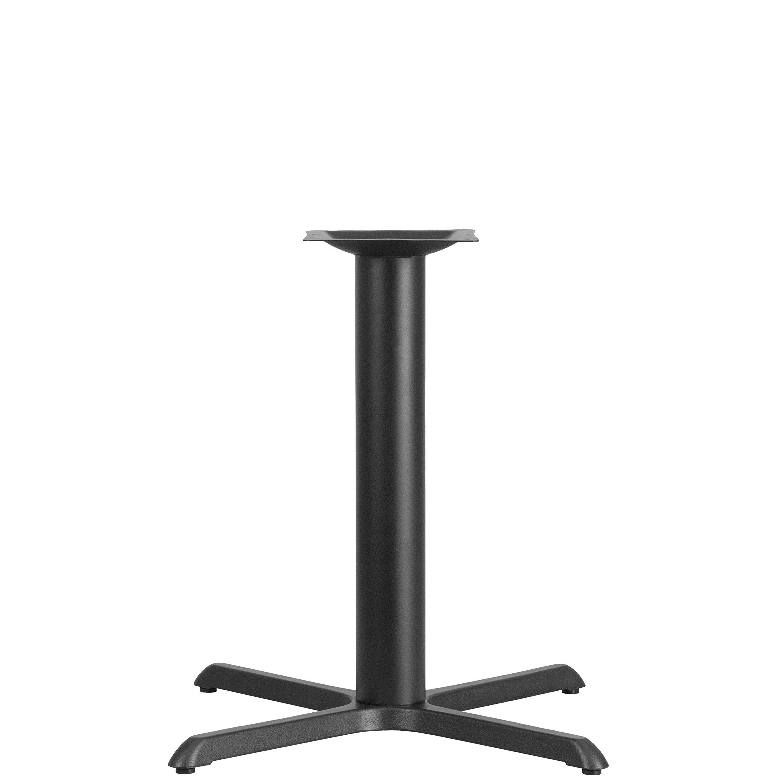 Flash Furniture 33'' x 33'' Restaurant Table X-Base with 4'' Dia. Table Height Column by Flash Furniture