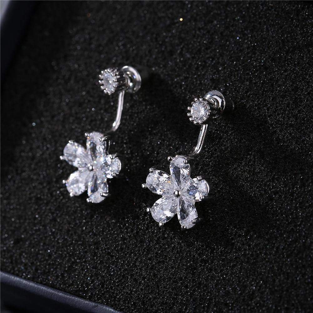 ZRDMN European And American fashion 925 Pure Silver Lovely Students ear screws girl personality temperament,fall short Earrings Water Drop Pendant Stud Earrings for Womens by ZRDMN (Image #6)