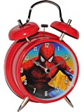 Unbekannt Kinderwecker -  The Amazing Spider-Man  - für Kinder Metall großer Wecker Analog - Alarm Metallwecker - Spiderman Action Figur Marvel Superheld Peter Parker..