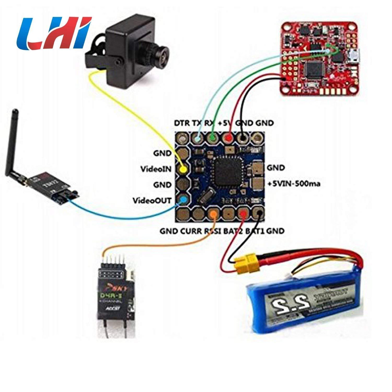 LHI Micro Minimosd Minim OSD Mini OSD w// Kv Team MOD for Naze32