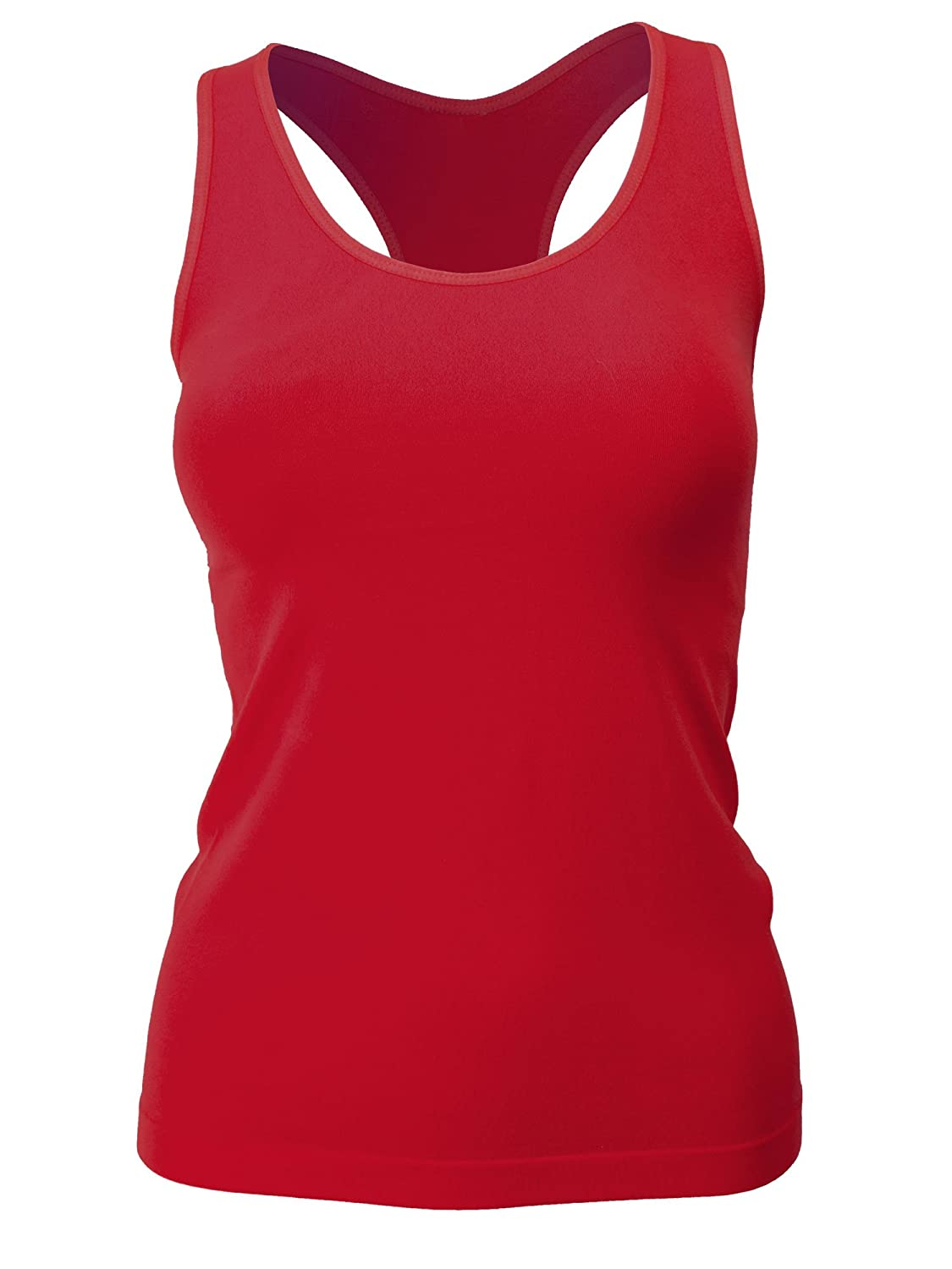 Red Bene Women's Solid Color Smooth Racer Back Tank Top RBM.3172