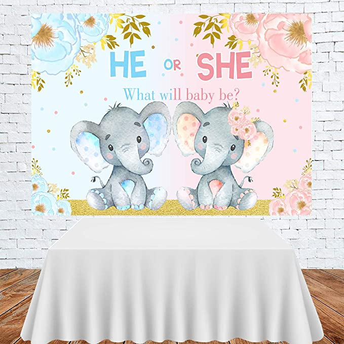 Fotohintergrund Mit Elefantenmotiv Für Babyparty Rosa Kamera