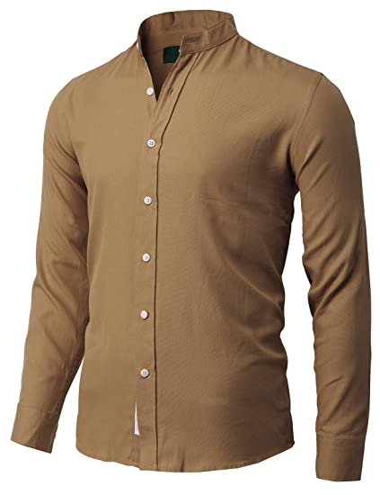 1f051eb776d9 H2H Mens Slim Fit Casual Button-Down Shirts Cotton Long Sleeve at Amazon  Men s Clothing store