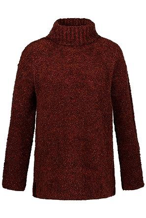2d09e59b0450 Ulla Popken Damen große Größen bis 64, Rollkragen-Pullover aus weichem  Flauschstrick, Bequem weit geschnitten, weiter Rollkragen, überschnittene  Schultern, ...