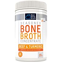 BONE BROTH CONCENTRATE Premium Beef Bone Broth Concentrate Turmeric Flavor - Maximized...