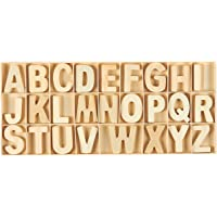 78-Piece Set Wooden Letters - Wooden Craft Letters with Storage Tray - Wooden Alphabet Letters for Home Decor, Natural…