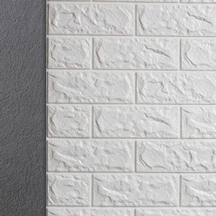 3d Brick Pattern Wall Stickers Peel And Stick Kitchen Backsplash Wall Sticker Faux Ceramic Tile Design 27 5 30 3 1pcs White