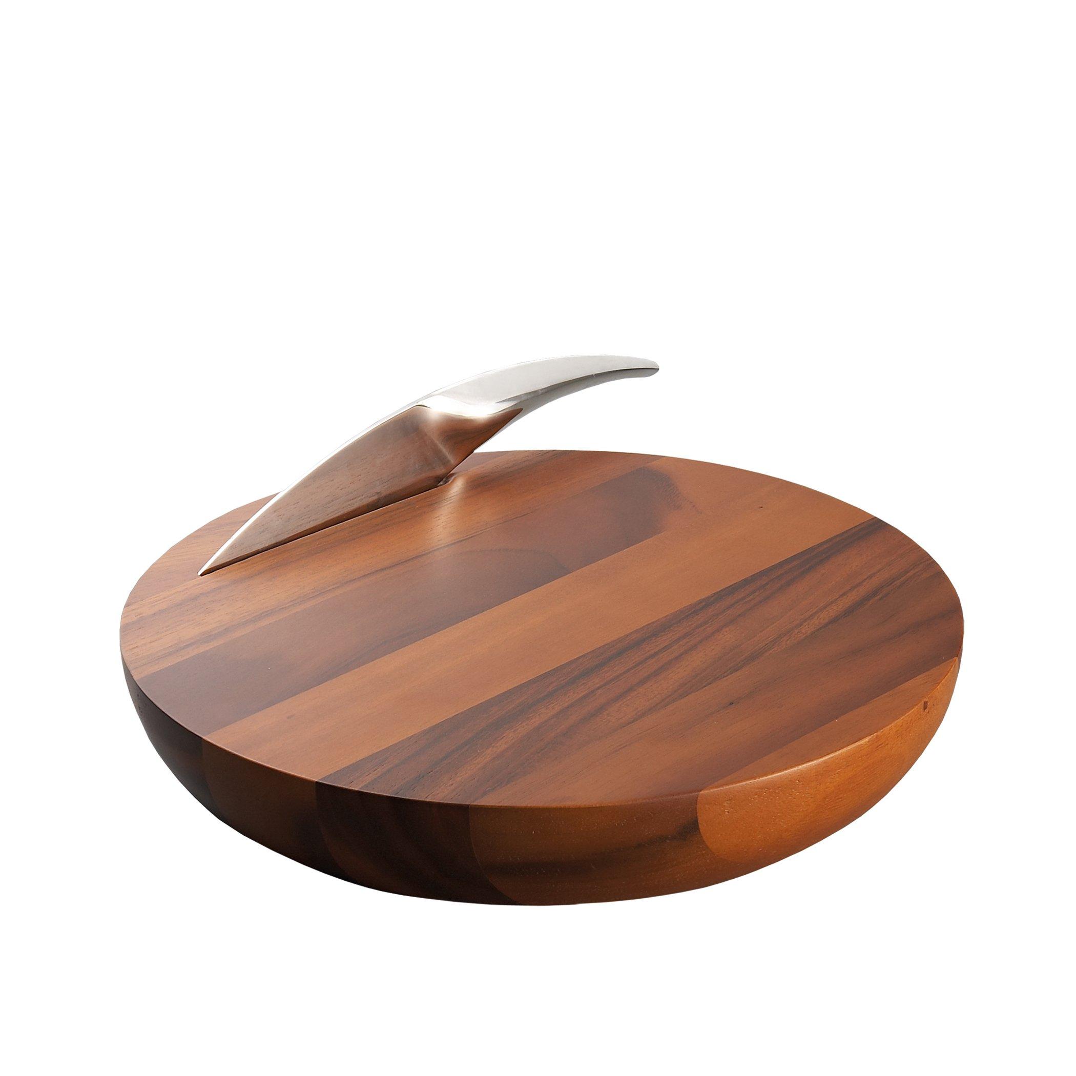 Nambé Harmony Cheese Board with Knife