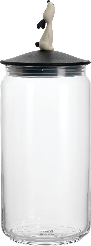 Alessi AMMI21 B Lula' Jar Container, Black, Black