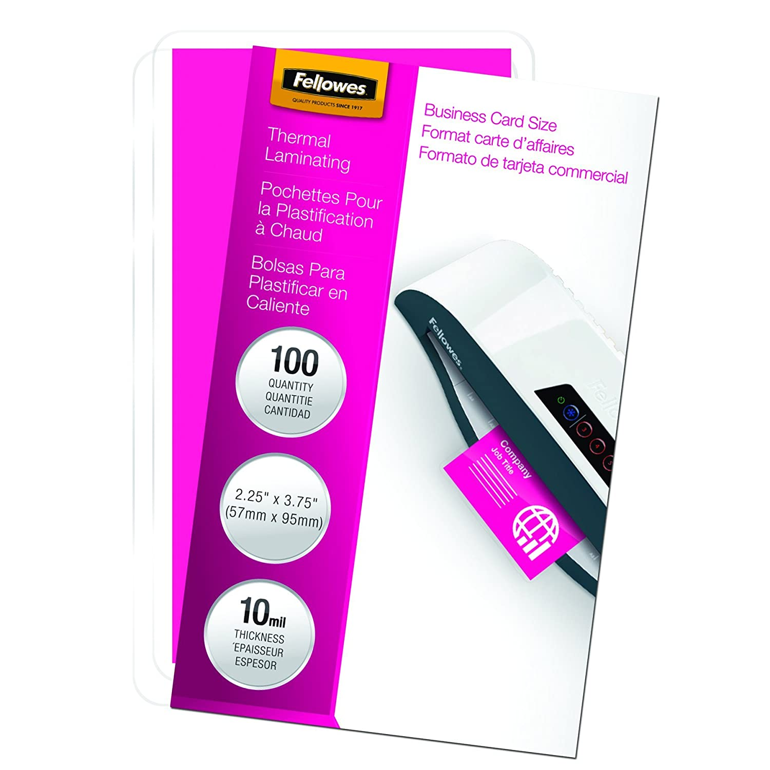 fellowes laminating pouches thermal business card