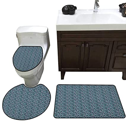 Strange Amazon Com Abstract 3 Pc Bath Rug Set Pattern With Joining Home Remodeling Inspirations Genioncuboardxyz