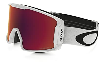 db909e94c7a9 Image Unavailable. Image not available for. Color  Oakley Line Miner XM Snow  Goggles Matte White with Prizm Torch Iridium Lens