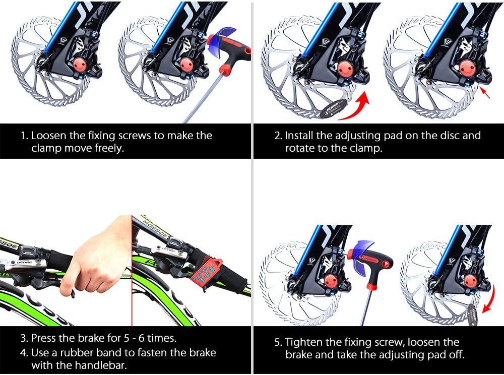 MTB Disc Brake Pads Adjusting Tool Bicycle Pads Mounting Assistant Brake Pads Rotor Alignment Tools Spacer Bike Repair Kit Walmeck