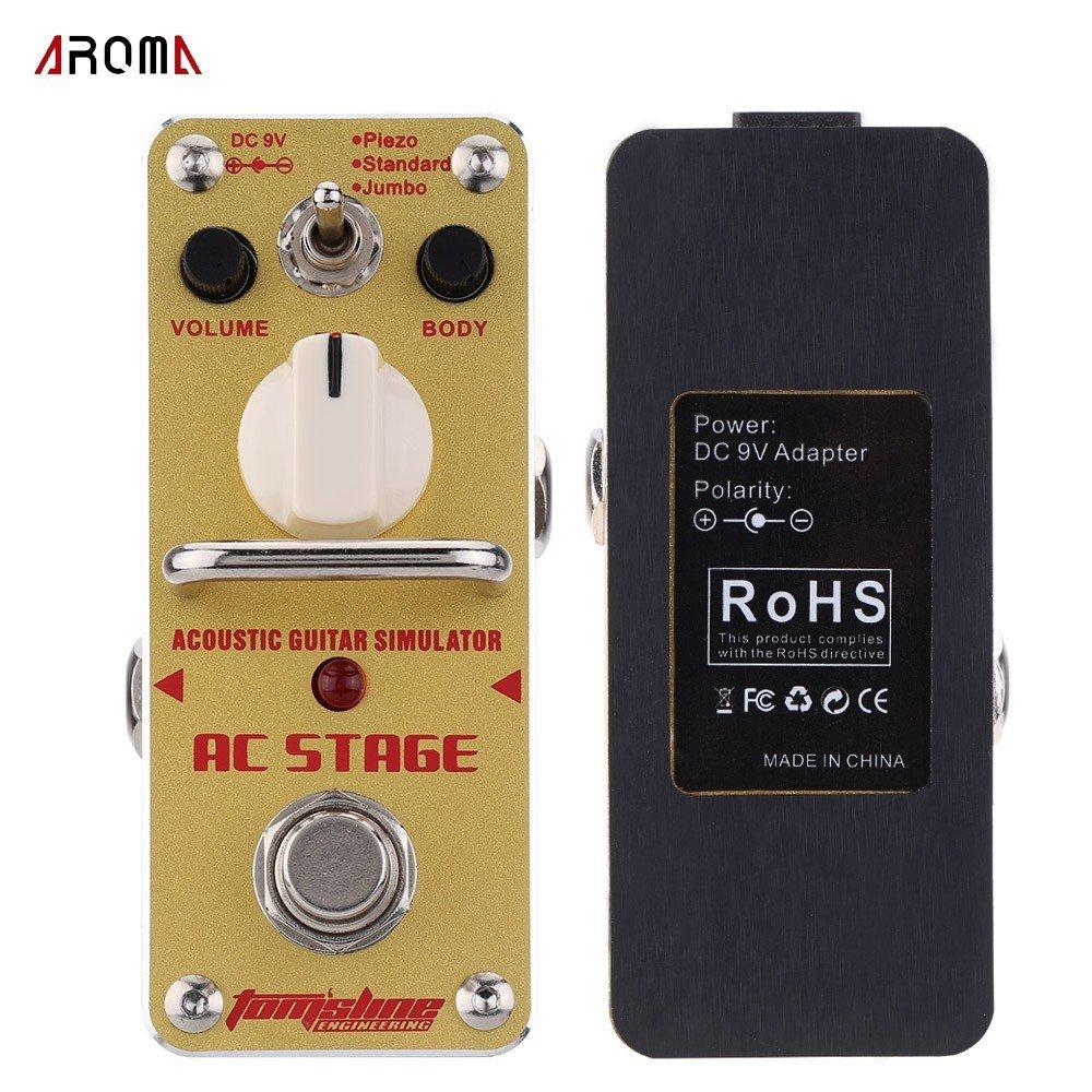 Aroma aas-3 AC etapa simulador de guitarra acústica Mini guitarra ...