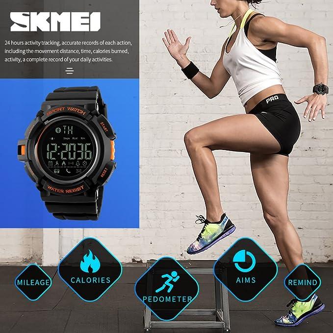 Amazon.com: Mastop Smart Watch Men Outdoor Chronograph Sports Pedometer Calories Fashion Waterproof Digital Watches Black: Watches