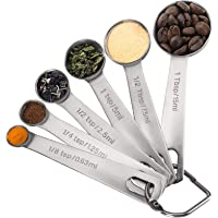 Measuring Spoons, Premium Heavy Duty 18/8 Stainless Steel Measuring Spoons Cups Set, Small Tablespoon with Metric and US…