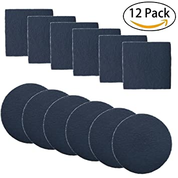 12 pack compost pail filters kitchen compost bin filter refill replacement double container filters system