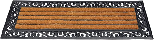 Coco Fiber and Rubber Outdoor Combination Doormat, 48 inch by 18 inch