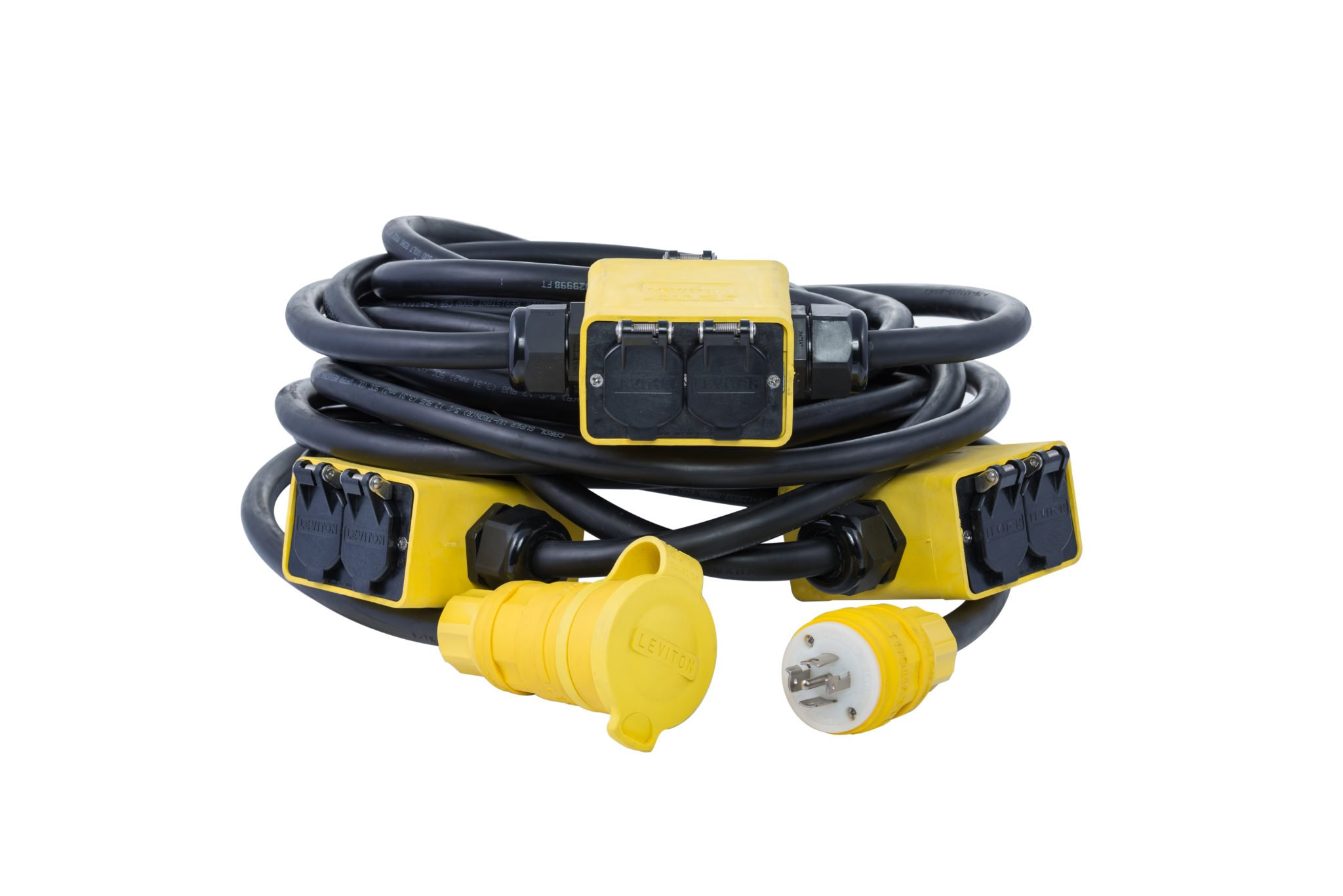 Event Temporary Power Cable 400 Amps Power Assemblies Type W Female to Blunt Pigs Tails Boot Color: Black NEMA 3R Series 16 CAM Type Length: 3