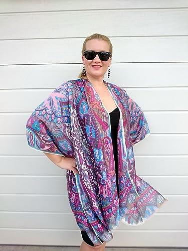 Amazon.com  Paisley Kimono Robe fc78aeccb