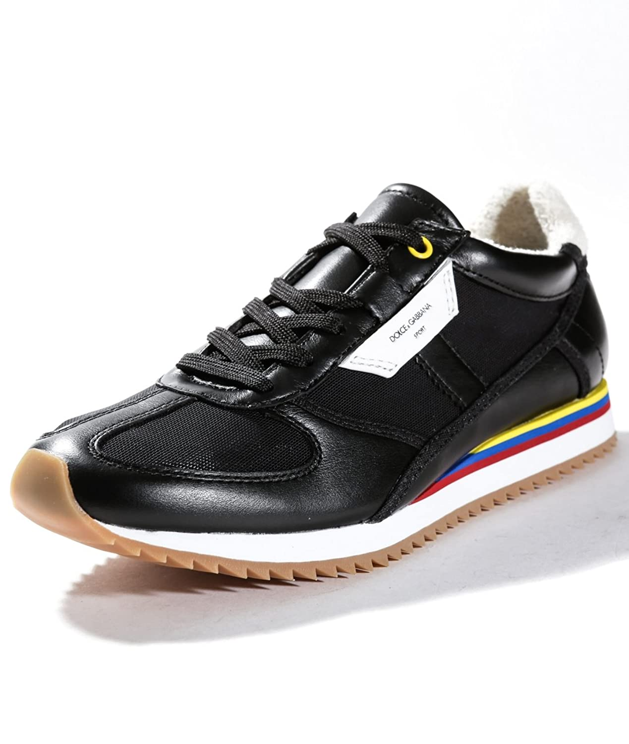 Dolce and Gabbana Men's Lace-Up Running Leather Sneakers