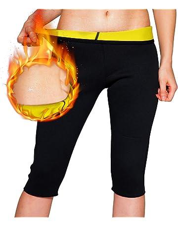 NOVECASA Sauna Gilet Longue Chemise Femme Pantalon Court Shorts en Néoprène  Fitness Corset pour Transpiration ad50ffb40ab