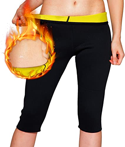 NOVECASA Sauna Shorts Femme N/éopr/ène Pantalon Court Fitness pour Transpiration Fat Burning Abdomen Minceur All/éger