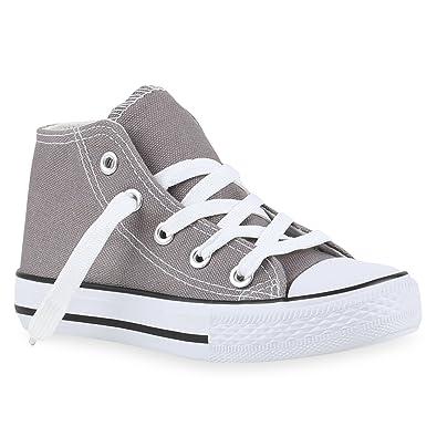 Stiefelparadies Kinder Damen Sneaker High Übergrößen Flandell