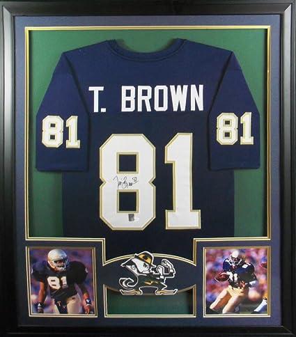 new concept ef4d7 11fbd Tim Brown Notre Dame Raiders Autograph Signed Custom Framed ...