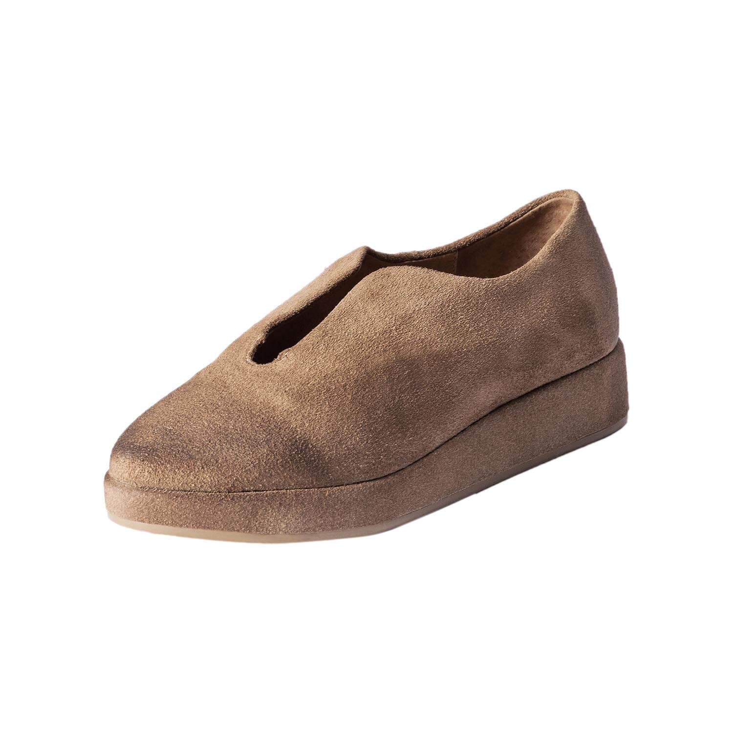 Taupe Antelope Women's 211 Suede Easy Flatform shoes