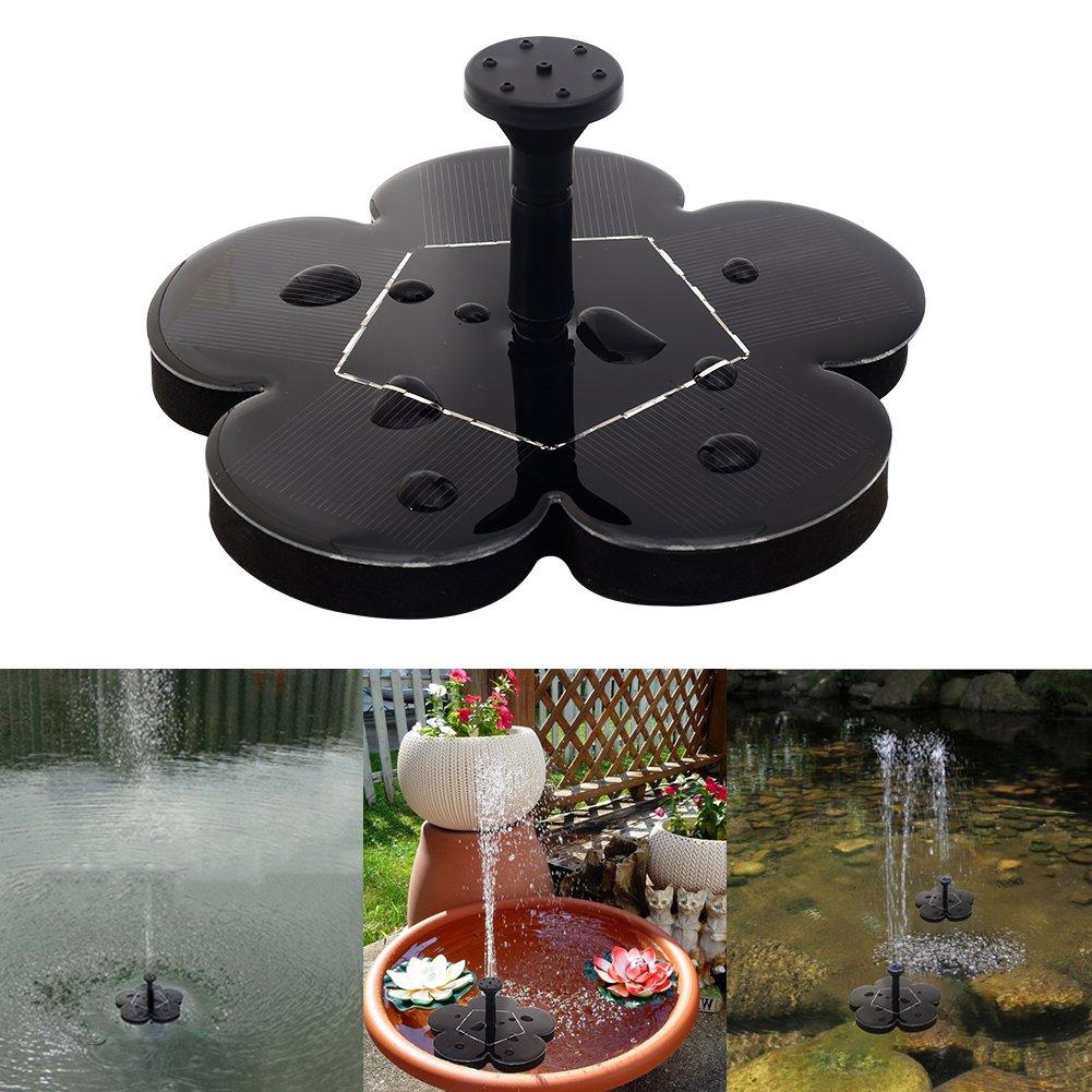 Solar-Power Water Fountain Pump Solar Sprinkler Fountain for Pool Pond Garden Patio Aquarium Decor