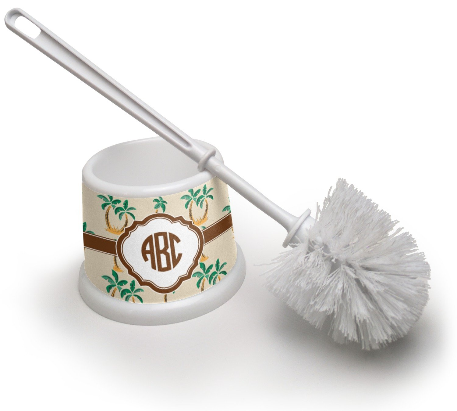 RNK Shops Palm Trees Toilet Brush (Personalized)